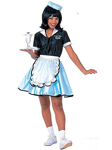Adult-Costume Car Hop Girl Costume Adult Halloween Costume - Most Adults