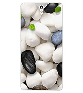 ColourCraft Stones Design Back Case Cover for SONY XPERIA C5 ULTRA