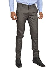 Club Wear Men's Cotton Slim Fit Trousers - B013SZOTIC
