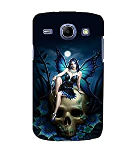 printtech Skull Gothic Fairy Back Case Cover for Samsung Galaxy J1 (2016 EDITION )/ J120F (Global); Galaxy Express 3 J120A (AT&T); J120H, J120M, J120M, J120T Also known as Samsung Galaxy J1 (2016) Duos with dual-SIM card slots