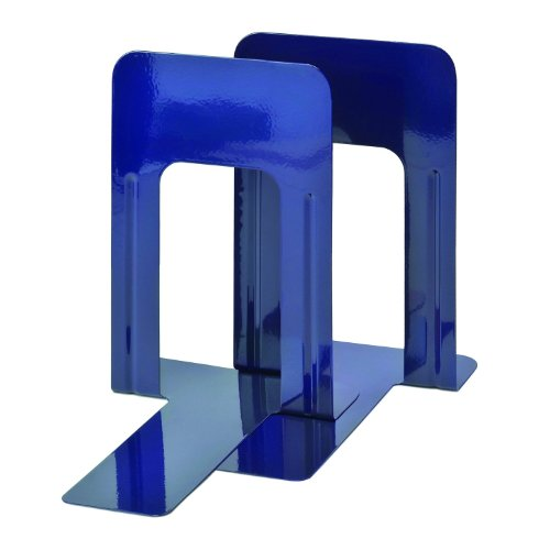 STEELMASTER Deluxe Steel 9 Inch Bookends, 1 Pair, Cobalt Blue (241009108)