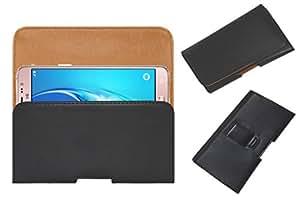 Acm Belt Holster Case For Samsung Galaxy J5 - 6 (2016) Cover Magnetic Closure Black