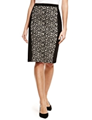 M&S Collection Animal Print Knee Length Pencil Skirt
