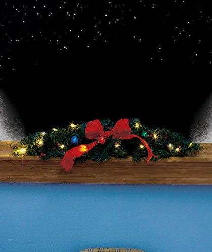 Lighted Window Swag Holiday & Seasonal Christmas Décor