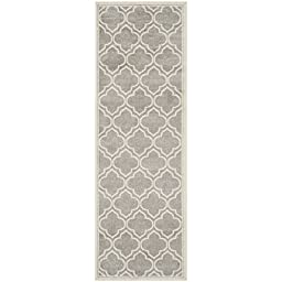 Safavieh Amherst Collection AMT412B Light Grey and Ivory Indoor/ Outdoor Runner, 2 feet 3 inches by 7 feet (2\'3\