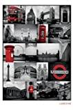 London Collage England Travel Scenic Poster 24 x 36 inches