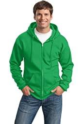 Port & Company Classic Full-Zip Hooded Sweatshirt. PC78ZH XXX-Large Clover Green