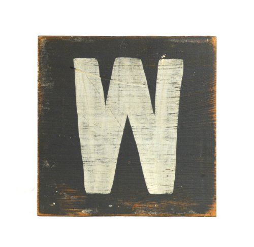 ZENTIQUE Wooden Letter, Small, Monogrammed W - 1