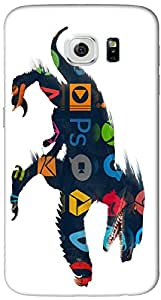 Timpax protective Armor Hard Bumper Back Case Cover. Multicolor printed on 3 Dimensional case with latest & finest graphic design art. Compatible with Samsung Galaxy S-6-EDGE Design No : TDZ-28118