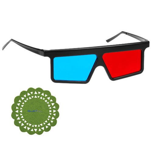 GTMax Flat Square 3D Red/Cyan Glasses for watching