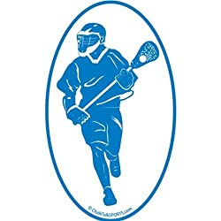 Fast Break Lacrosse Oval Car Magnet (Blue)