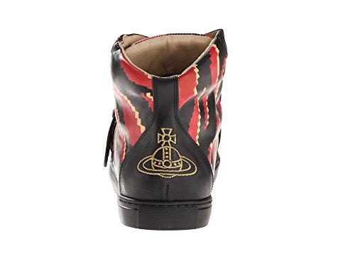 Vivienne Westwood Men's RUNWAY High Top Maine Tiger Trainer Black/Marrone 43.5 (US 10.5) M