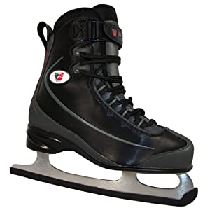 Riedell 625SS Black Mens Ice Skates - Adults Soft Boot Figure Skates by Riedell