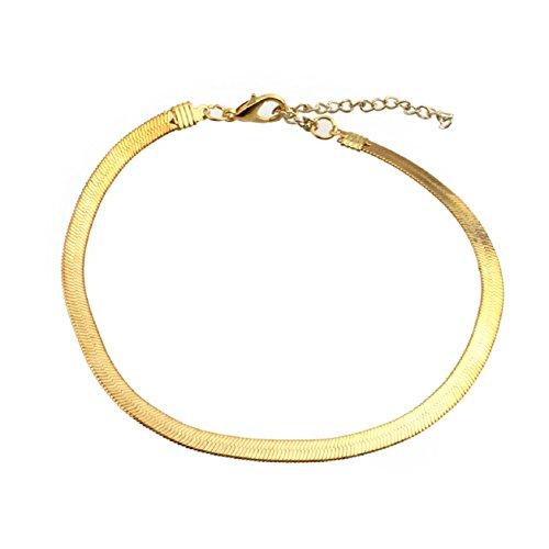 Malloom® Men Women 4mm Snake Necklace Foot Anklet