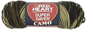 Red Heart E300.0971 Super Saver Economy Yarn, Camouflage