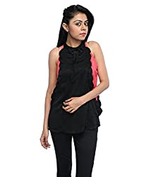Tryfa Women's Top (Tryfa-108-XL_Black_X-Large)