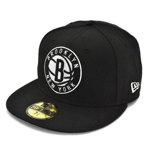 ニューエラ 59フィフティー ブルックリン・ネッツ ブラック/ホワイト NEW ERA ニューエラ NEWERA 59FIFTY CAP BROOKLYN NETS(NBA) BLACK/GRAY/WHITE N0014291