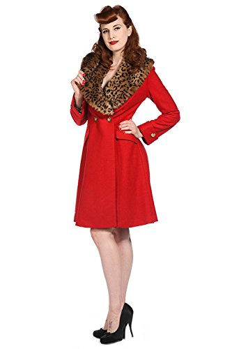 Banned Apparel -  Cappotto  - Impermeabile - Donna rosso XXXX-Large