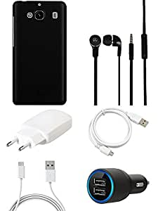 NIROSHA Cover Case Charger Headphone USB Cable for Xiaomi Mi2 - Combo