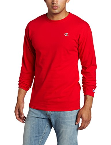 Champion Men's Jersey Long Sleeve T-Shirt, Crimson, X-Large (Red Champion Long Sleeve Shirt compare prices)