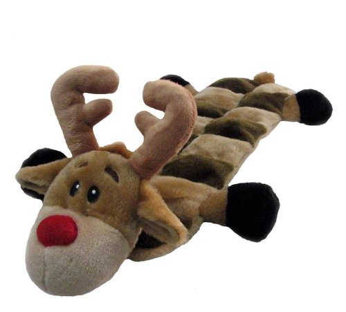 Squeaker Mat Christmas Reindeer Dog Toy