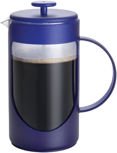 Bonjour Coffee Ami-Matin 3-Cup French Press, Blue front-304967