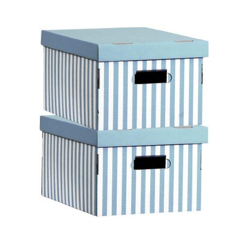 Compactor Home RAN3311 Lot de 2 Boîtes Shirt Turquoise