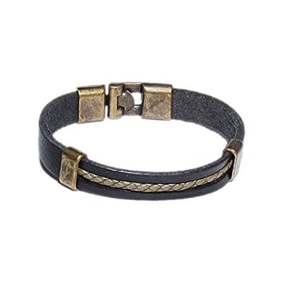 AUTHENTIC HANDMADE Leather Bracelet, Men Women Wristbands Braided Bangle Craft Multi [SKU003169]