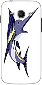 Snoogg Blue Marlin Fish Jumping Retro Designer Protective Back Case Cover For...