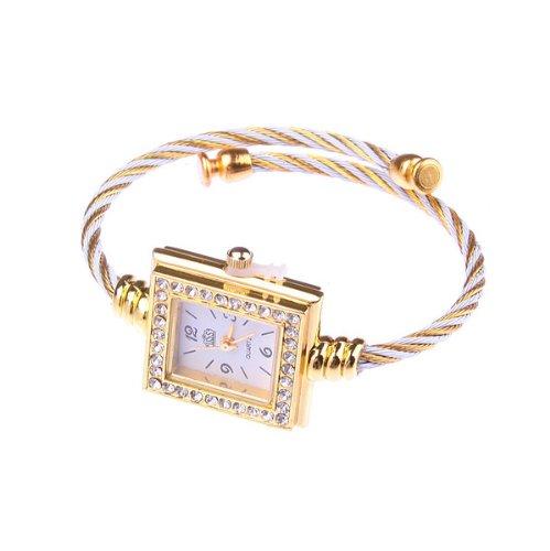 Bestdealusa Fashion Square Rhinestone Girl Lady Women Wrist Bracelet Watch