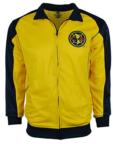 Club America Jacket Track Soccer Adult Sizes Soccer Football Official Merchandise (Medium, Yellow) (America Soccer Jacket compare prices)
