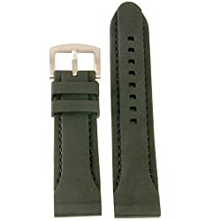 Watch Band Rubber Silicon Divers Sports Strap 24mm Black
