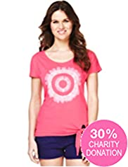 Fashion Targets Pure Cotton Tie Side T-Shirt