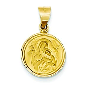 18k Yellow Gold Our Lady Of Perpetual Help Pendant
