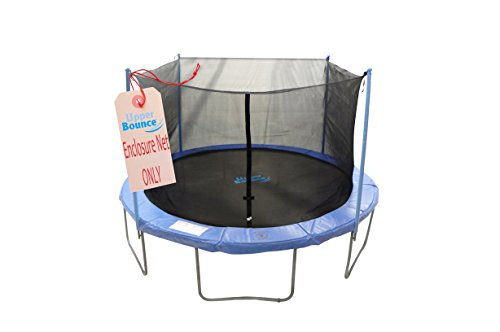 Upper-Bounce-Trampoline-Enclosure-Safety-Net-Fits-For-10-Feet-Round-Frame-Using-4-Poles-or-2-Arches-Poles-Sold-Separately