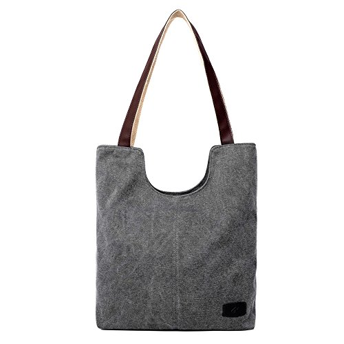hiigoo-simple-portable-bags-canvas-tote-bag-casual-shoulder-bag-bigger-handbag-grey
