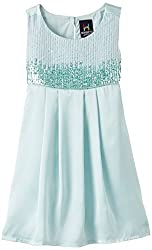 Herberto Girl's Party and Evening Dress (HRBT-DRESS086-2_Green_5-6 years)