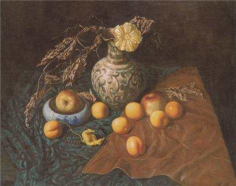 'Fruits On The Table' Oil Painting, 24x30 Inch / 61x77 Cm ,printed On High Quality Polyster Canvas ,this High Resolution Art Decorative Canvas Prints Is Perfectly Suitalbe For Laundry Room Gallery Art And Home Gallery Art And Gifts (Fireplace Glass Doors Gunmetal compare prices)