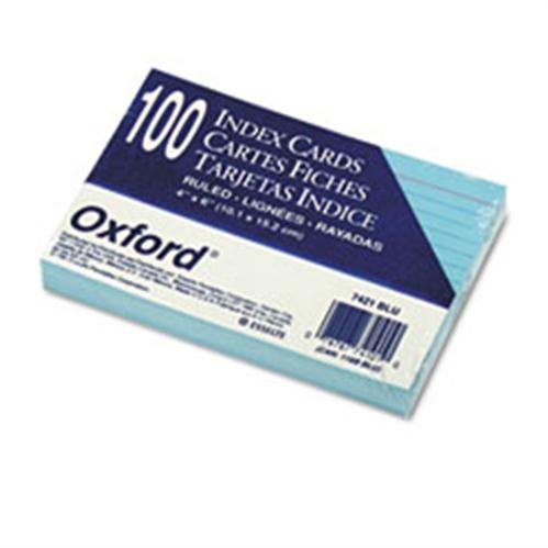Oxford 7421BLU Oxford Index Cards ESS7421BLU ESS 7421BLU