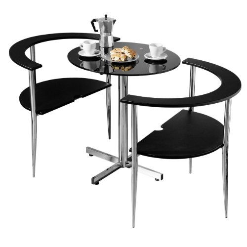 3pc BLACK LOVE DINING TABLE SET WITH 2 CHAIRS