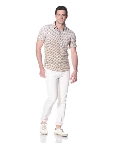 Just a Cheap Shirt Men's Santiago Woven Shirt  [Off white]