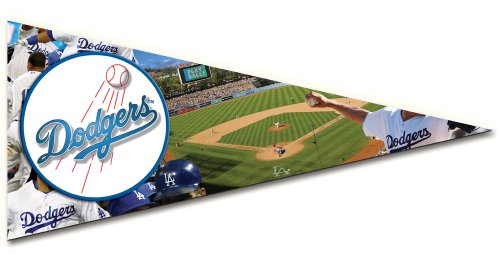 Mlb Pennant Shaped Puzzle - Los Angeles Dodgers