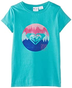 Roxy Enola 2A Screenline T-Shirt Fille Baltic Blue FR : 16 ans (Taille Fabricant : 16/XXL)