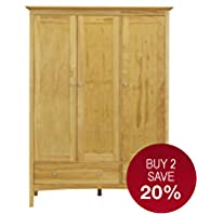 Hastings Natural Triple Wardrobe