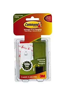 Command Sawtooth Picture-hanging Hooks,