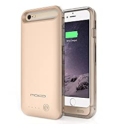 MoKo iPhone 6s Plus / 6 Plus Battery Case - Portable 4000mAh Battery Pack External Rechargeable Protective Charger Case for iPhone 6s Plus / 6 Plus 5.5 Inch [MFI Apple Certified] GOLDEN
