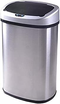 BestOffice 13-Gallon Touch-Free Sensor Automatic Trash Can