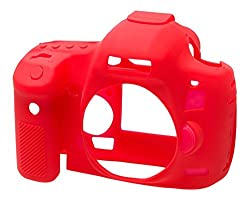 EasyCover Silicone Case for Canon 5D MK3- Red