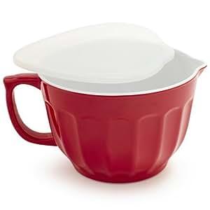 Buy sur la table batter bowl with lid fr9208 red online for Sur la table mixing bowls