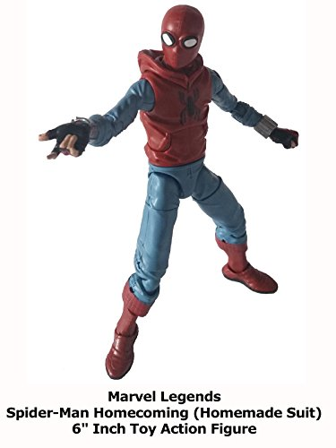 "Review: Marvel Legends Spider-Man Homecoming (Homemade Suit) 6"" Inch Toy Action Figure"
